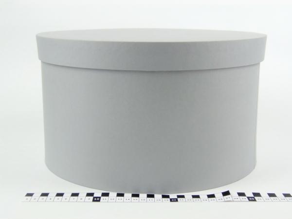 Диаметр 35 см, высота 20 см Круглая коробка. Цвет: серый