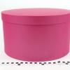 Діаметр 35 см, висота 20 см Кругла коробка. Колір малиновий