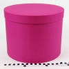 Діаметр 29 см, висота 20 см Кругла коробка. Колір маліновий