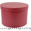 Діаметр 29 см, висота 20 см Кругла коробка. Колір бордовий