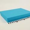 Розмір 35х25х5 см. Коробка зі з`ємною кришкою. Колір блакитний