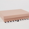 Розмір 22,5х16,5х4 см. Коробка зі з`ємною кришкою. Колір персиковий