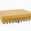 Розмір 22,5х16,5х4 см. Коробка зі з`ємною кришкою. Колір крафтовий
