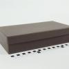 Размер 27х15х6 см Подарочная коробка со съемной крышкой. Цвет коричневый