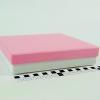 Розмір 20х20х4 см. Коробка зі з`ємною кришкою. Колір рожево-білий