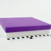Розмір 20х20х4 см. Коробка зі з`ємною кришкою. Колір фіолетово-білий