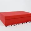 Розмір 36,4х23,1х10 см. Коробка зі з`ємною кришкою. Колір червоний