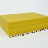 Розмір 36,4х23,1х10 см. Коробка зі з`ємною кришкою. Колір золотистий
