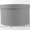 Диаметр 29 см, высота 18 см Круглая коробка. Цвет: серый.