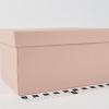 Розмір 20х13х11 см. Подарункова коробка зі  з`ємною кришкою. Колір пудровий
