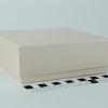 Размер 13х13х5 см. Коробка со съемной крышкой. Цвет бежевый