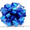 Бант для подарка. Диаметр 35 см. Лента металлизированная. Цвет синий