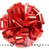 Бант для подарка. Диаметр 35 см. Лента металлизированная. Цвет красный