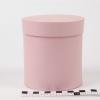 Діаметр 11 см высота 12 см. Кругла коробка. Колір рожевий
