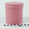 Діаметр 11 см высота 12 см. Кругла коробка. Колір темно-рожевий