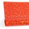 Рулон 70 см на 10 м. Подарунковий папір. Дизайн: метелики на червоному