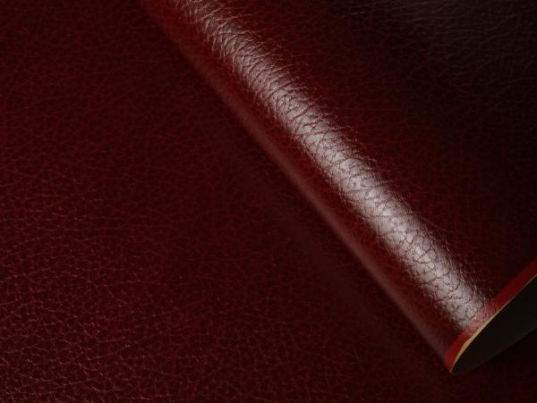 Кожзам на бумажной основе. Цвет бордовый 628/206 CUOIO