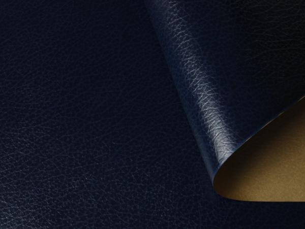 Кожзам на бумажной основе. Цвет 613/206 CUOIO темно-синий