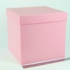 Размер 25х25х25 см. Коробка для подарка. Цвет розовый