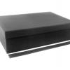 Размер 36,4х23,1х10 см. Коробка со съемной крышкой. Цвет черный