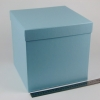 Размер 25х25х25 см. Коробка для подарка. Цвет голубой