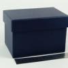 Размер 15х10х9 см. Коробка для подарка. Цвет темно-синий