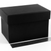 Размер 15х10х9 см. Коробка для подарка. Цвет черный