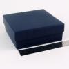 Размер 14х14х4 см. Коробка со съемной крышкой. Цвет темно-синий