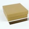 Размер 14х14х4 см. Коробка со съемной крышкой. Цвет крафтовый