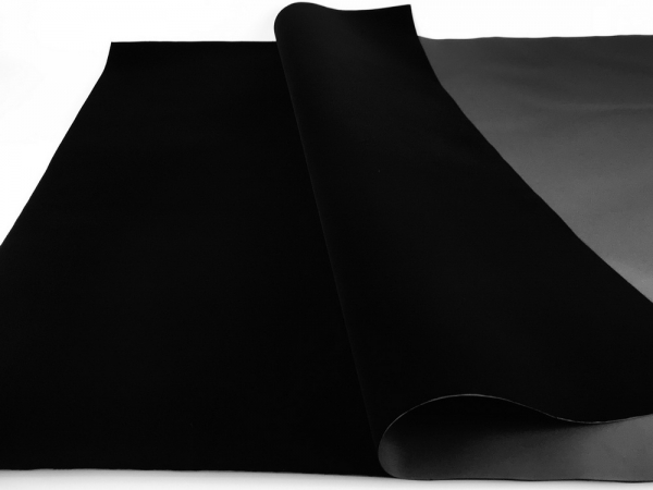 Бархат на бумажной основе цвет черный. Флокированная бумага