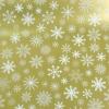 Рулон 70 см на 10 м. Новогодняя подарочная бумага. Дизайн: снежинки