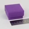 Размер 5х5х3 см Подарочная коробка со съемной крышкой. Цвет фиолетовый
