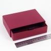 Размер 15х10х3,5 см Выдвижная коробка. Цвет бордовый