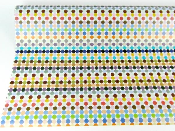 Рулон 70 см на 5 м. Подарочная бумага. Дизайн цветной горох