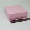 Размер 13х13х5 см. Коробка со съемной крышкой. Цвет розовый