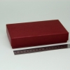 Размер 18х10х3,5 см. Коробка со съемной крышкой. Цвет: бордовый