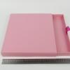 Размер 28х24х2,5 см Выдвижная коробка. Цвет розовый