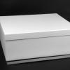 Размер 37х31х14 см. Коробка со съемной крышкой. Цвет: белый