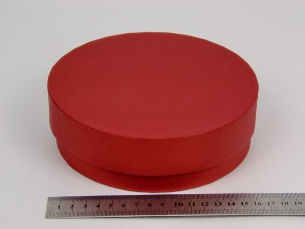 Диаметр 16 см, высота 5 см Круглая коробка. Цвет: бордовый