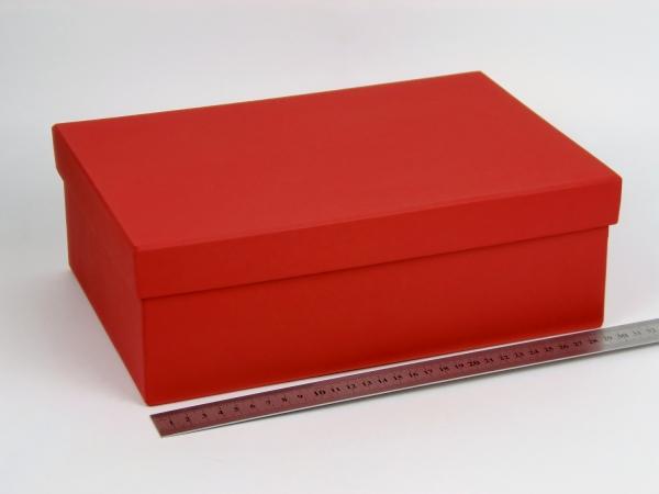 Размер 30х20х10см. Подарочная коробка со съемной крышкой. Цвет красный