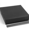 Размер 18,5х18,5х4,5см. Подарочная коробка со съемной крышкой. Цвет черный