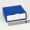 Размер 9х9х3 см Выдвижная коробка. Цвет синий, дно белое