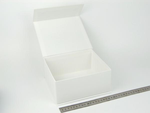 Размер 20х17х9 см. Коробка на магнитах. Цвет: белый