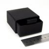 Размер 6х6х3 см Выдвижная коробка. Цвет чорный
