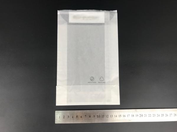 Размер 15х20х4см. Белый пакет из бумаги тишью плотностью 35г/м