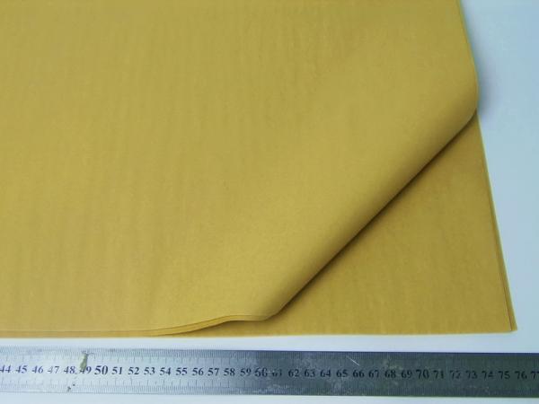 100 листов бумаги тишью горчично-крафтового цвета 50х76 см код KRAFT