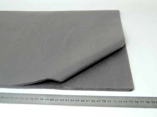 100 листов бумаги тишью темно-серого цвета 50х76 см код Slate Gray