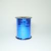 Лента металлизированная для упаковки подарков и цветов 0,5 см. 125 м. Цвет: синий