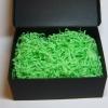 Бумажный наполнитель для коробок. Объем в распушенном виде 1,5 литра. Цвет зеленый № 563