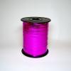 Лента металлизированная для упаковки подарков и цветов 0,5 см. 125 м. Цвет: малиновый